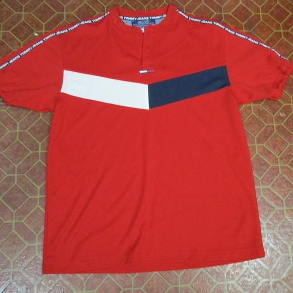 8d861e5e65 Tommy Hilfiger Shirts | Vintage Red Shirt Men Medium | Poshmark